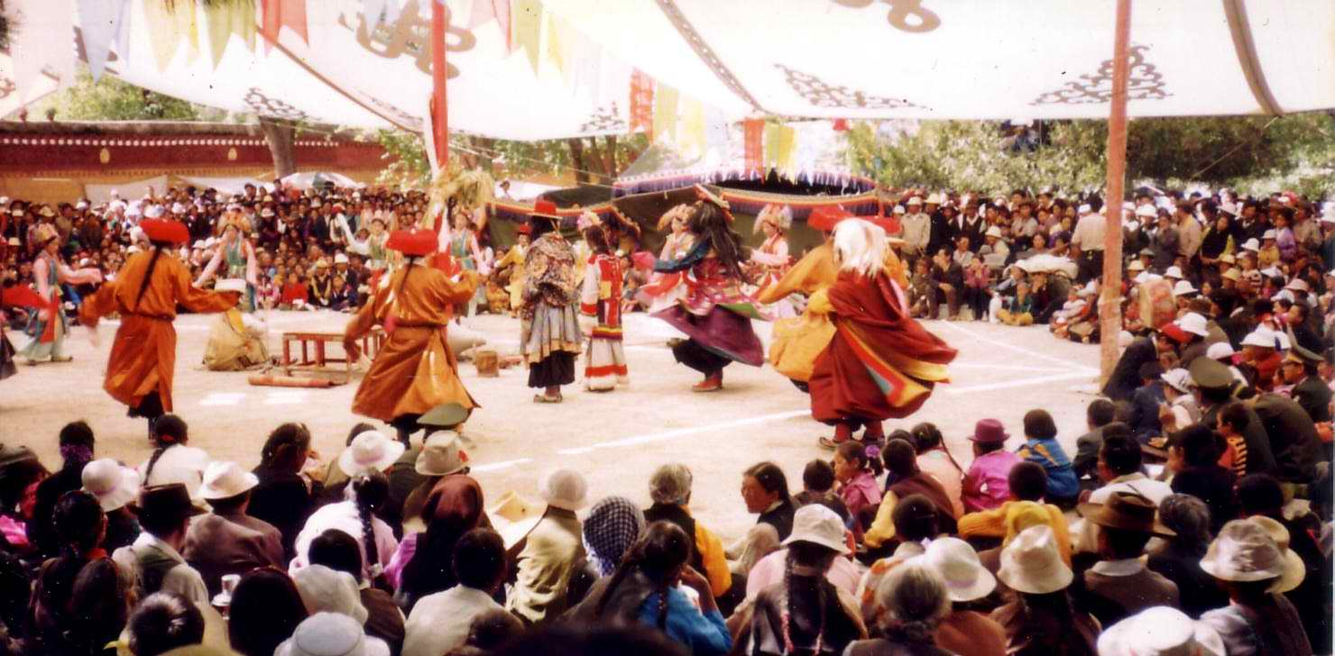 The Sho Dun Festival in Lhasa, Tibet